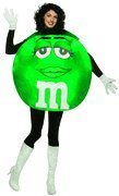 M&m Adult Costumes (M&Ms Poncho Female Costume)