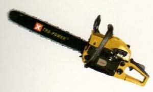 Xtra Power Gasoline Chain Saw 58 CC Displacement XPG-CS18