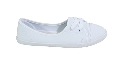 Détente Blanc Chaussure Style By Shoes Plate Jean Femme E5qSF0wS