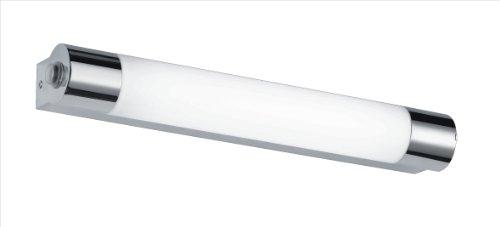 Trio Leuchten LED-badkamerwandlamp in chroom, inclusief 1 x 6W LED met schakelaar en stopcontact, breedte 44 cm…