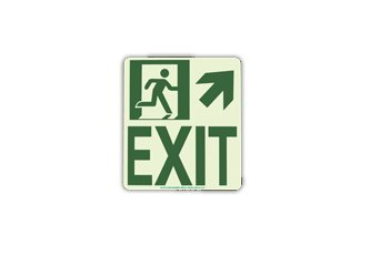 Wall Mounted Exit Sign (Up and Right) (Wmur)
