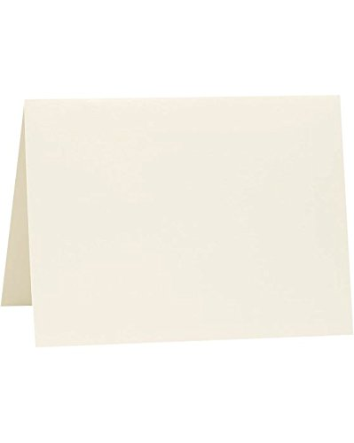A1 Folded Notecards (3 1/2 x 4 7/8) - Savoy - Natural White (1000 Qty.)