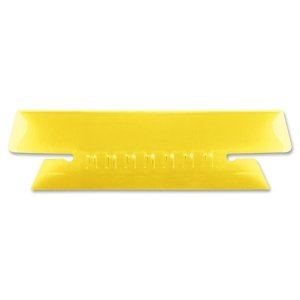 Wholesale CASE of 25 - Esselte Soft Flexible Colored Tabs-Plastic Tabs, 3-1/2'' Tab, 1/3 Tab Cut, 25/PK, Yellow