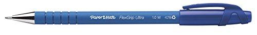 Paper Mate Flexgrip Ultra Stick Medium Point Ballpoint Pens, 12 Blue Ink Pens (9610131)