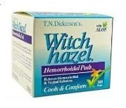 T.N. Dickinson's Hemorrhoidal Pads, Witch Hazel with Aloe, 100-Count Packages (Pack of 2) by T.N. Dickinson's