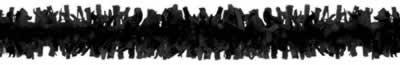 Beistle - 55599-BK - Pkgd Tissue Festooning- Pack of 12 (Festooning Tissue Art)