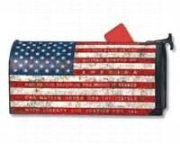 American Flag Mailbox - MailWraps Pledge of Allegiance Mailbox Cover #06448