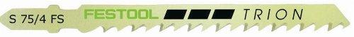 Festool 490256 S 75/4 FS TRION Jigsaw Blade, 3 Inch, 6 TPI, 20-Pack ()