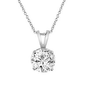 040ct E White VS2 Very Shiny Round Diamond Solitaire Pendant 14k Gold - Jewelry Accessories Key Chain Bracelet Necklace Pendants