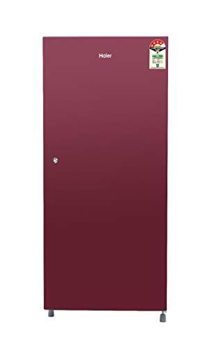 Haier 195 L 4 Star ( 2019 ) Direct-Cool Single-Door Refrigerator (HRD-1954CSR-E, Burgundy Red)