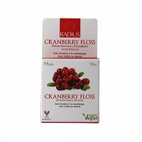 Radius Dental Floss Cranberry Floss 55 yards (a) - 2pc