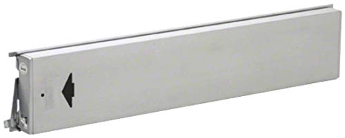 CRL Jackson Model 3186 Mid-Panel Concealed Vertical Rod Exit Device Arrow Engraved On Push Pad Hex Bolts At Both Latch Points Left Hand Reverse Bevel Satin Aluminum Finish by CR Laurence