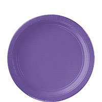 Amscan Round Paper Plates Birthday Party Disposable Table and Dishware (20 Pack), Purple, 9''. by Amscan