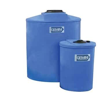 Gemini 01-14871 Dual Containment Tank for Chemical Feed Systems, 20 Gallons; Blue