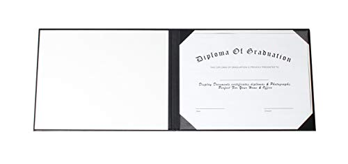 GraduationService Smooth Diploma Certificate Cover 8 1/2'' x 11'' (Black) by GraduationService (Image #3)