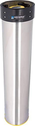 Counter Mount Beverage Cup Dispenser - San Jamar C3500E Stainless Steel Vertical Surface Mount Beverage Cup Dispenser, Fits 32oz to 46oz Cup Size, 4
