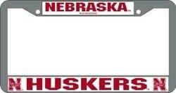 Nebraska Huskers Chrome License Plate Frame