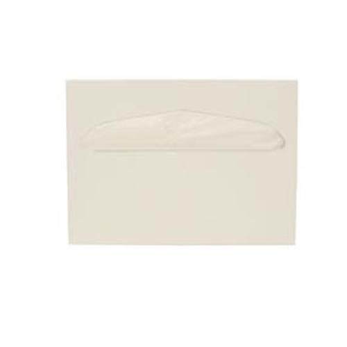 Health Gards Toilet Seat Cover Dispenser Half-Fold White, Metal, Wall Mounted, Hospeco  TSC-1W