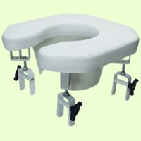 Lumex 6497A Multi-Position Open Padded Raised Toilet Seat by Lumex