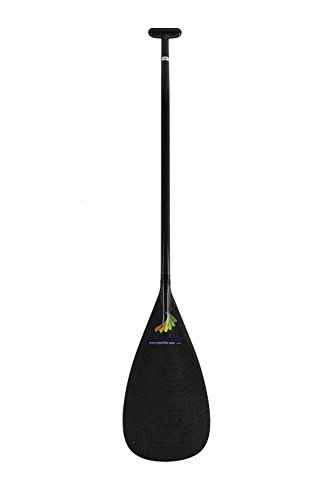 Tahiti Type Lightweight Full Carbon Fiber Outrigger Canoe OC Paddle With Bent Shaft (M-9.4''18.5'', 51'')