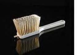 Egg Wash/Icing Brush,11-1/4'' Long, 4'' Brush Head, White Boar Hair by Braun Brush