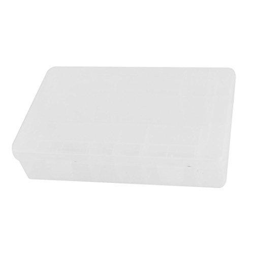 eDealMax Tornillos Tuercas Forma de rectngulo de la chincheta de almacenamiento caja de caja transparente