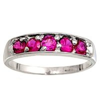 Ruby Pinky Ring - 6