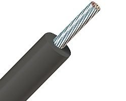 500ft 14 AWG High Temperature Wire GTO Neon Sign Wire - Stranded Bare Annealed Copper - PVC 105C - 15KV - Black