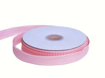 "Tableclothsfactory 5/8"" Grosgrain Ribbon with Stitched Edges-Pink"