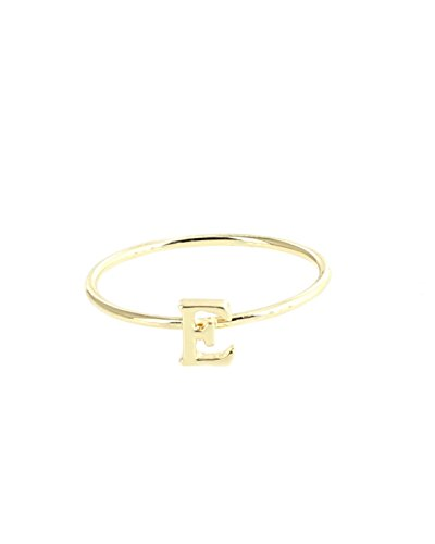 Monogram Ring with Letter E (Gold) (Gold Initial Ring compare prices)