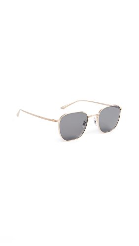 Oliver Peoples The Row Women's Board Meeting 2 Sunglasses, Brushed Gold/Grey, One Size by Oliver Peoples The Row
