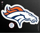 Denver Broncos Official NFL 6 inch x 9 inch Car Magnet by Wincraft