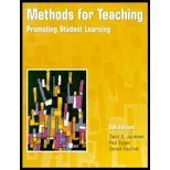 Methods for Teaching : Promoting Student Learning, Jacobsen, David and Eggen, Paul D., 0130308986
