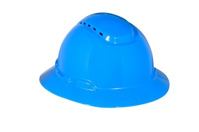 3M (H-803V) Full Brim Hard Hat H-803V, Blue 4-Point Ratchet Suspension, Vented [You are purchasing the Min order quantity which is 1 Case]
