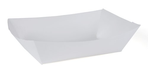Southern Champion Tray 0554 #200 Paperboard Food Tray / Boat / Bowl, 2 lb Capacity, White (Pack of 1000) by Southern Champion Tray (Image #2)