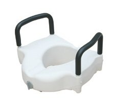 Deluxe Portable Elevated Riser with Padded Handles, Toilet Seat Lifter for Bathroom Safety For Disabled, Elderly or Handicapped, By Tulimed by Tulimed (Image #1)