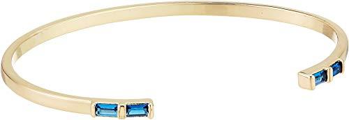 Baguette Blue Sapphire Bracelet - SHASHI Women's Baguette Cuff Sapphire One Size