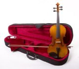 4/4 Size Student Beginners Violin with Case and Accessories - Natural & DirectlyCheap(TM) Translucent Blue Medium Pick