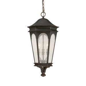 Bronze Hanging Old (Capital Lighting 9386OB Hanging Lantern with Seeded Glass Shades, Old Bronze Finish)