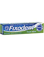 Fixodent Denture Adhesive Cream, Fresh Mint 2.40 oz (Pack of 10)