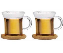 Bodum Shin Bistro 8.5 Ounce Glass Tea Cup, Set of 2 - Bodum Teacups