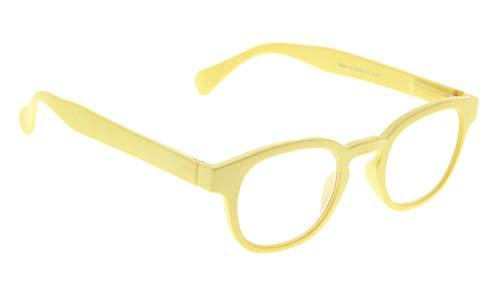1 Dz Yellow Roses - Computer Eyeglasses with Anti UV Light Filter Women (Yellow, 1.00)
