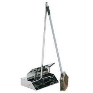 Lobby Dustpan Stainless Steel Combo Contico