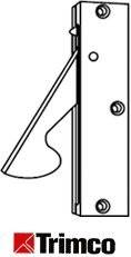 Trimco 1062 Concealed Edge Pull-626 Dull Chrome