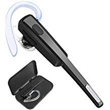 Bluetooth Headset, COMEXION Ultralight Wireless Bluetooth Earpiece Cell Phones Noise Cancelling Mic-Compatible iPhone, Android Other Smartphones (Black+ ()