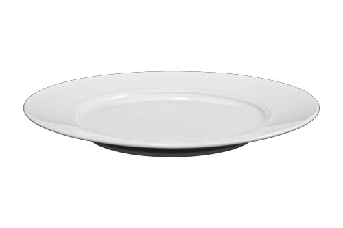 Bia Cordon Bleu White Porcelain Saturn Dinner Plates, Set of 4