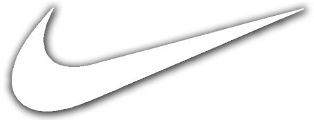 nike swoosh template - nike swoosh logo vinyl sticker decal white 4 inch buy