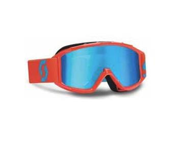 Scott 89SI Pro Youth Off-Road Motorcycle Goggles Eyewear - Orange/Blue/Electric Blue / One Size