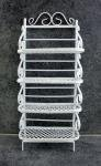 Price comparison product image Dollhouse Miniature Furniture White Wire Wrought Iron Bakers Rack Shelf Unit