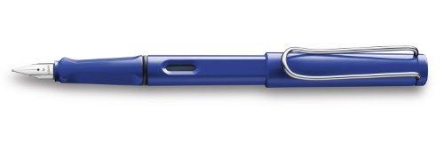 LAMY Blue Safari Fountain Pen with Medium Nib and Blue Ink (L14M)